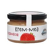 Крем мед с клубникой 300гр