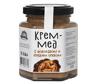 Крем мёд с шоколадом и грецким орехом 250гр